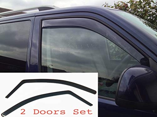 AC WOW 2X V W Transporter T5 2003–2015 Caravelle Multivan Doubleback Camper California Windabweiser Dark Smoke getönt Acryl Glas Tür Seitenfenster InChannel Visiere Regen Schnee Schutz
