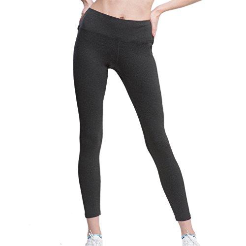 VFUN Sport Leggings Damen Yogahose Knöchellang Elastisch Jogginghose Grau XXL (Skinny Spandex-leggings)