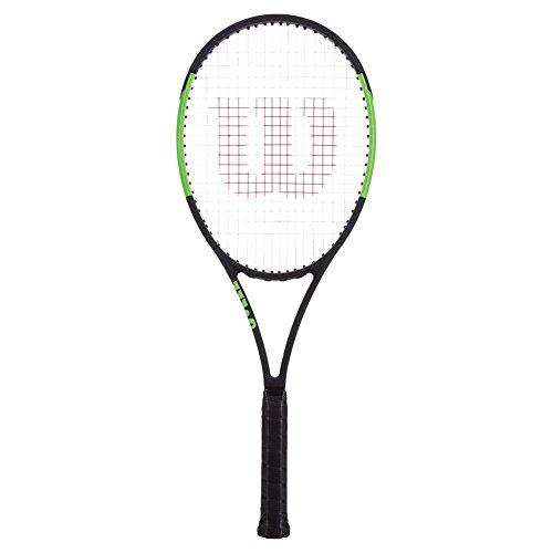 Wilson Blade 98 16X19 CVFRM W/O Raqueta de Tenis, Unisex Adulto, Negro/Verde (Black Velvet/Electric Lime), 3
