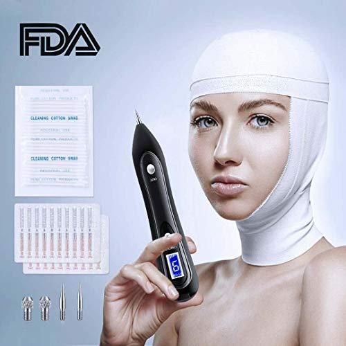 Pluma de eliminación de mole, regalo de Navidad protable kit de herramienta de eliminación ajustable 9 niveles de fuerza pluma de belleza para el cuerpo facial pecas Nevus de verrugas edad spot