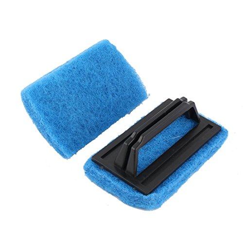 sourcingmap® 2 Stk Haus Badezimmer Plastik Griff Schwamm Badewanne Reinigung Bürste Blau de