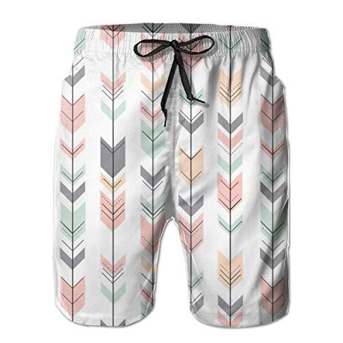 Fletching Arrows Pink, Grau, Mint, Peach_414 Herren Boardshorts Badehose Surf Beach Holiday Party Badeshorts Strandhose L - Barbie Holiday Angel