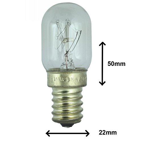 Lampe de réfrigérerateur 15W pour usage dans un frigo Gorenje. 240v. Ampoule à SES (E14) petit vis Edison