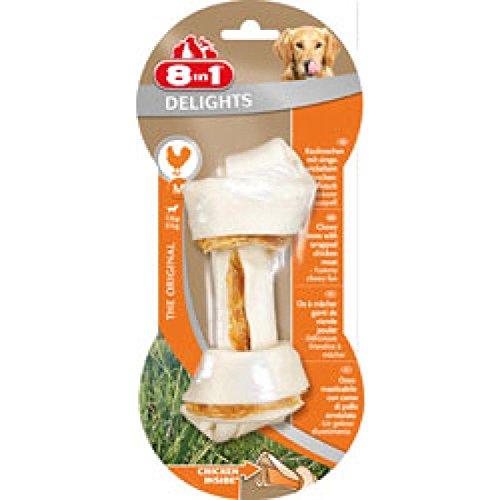 Record Freuden Hund Knochen Snacks behandelt Huhn mit natürlichen Rohhaut und keine künstlichen Farbstoffe oder Aromen, 6 Packungen mit