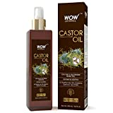 WOW 100% Pure Castor Oil - Cold Pressed - For Stronger Hair, Skin