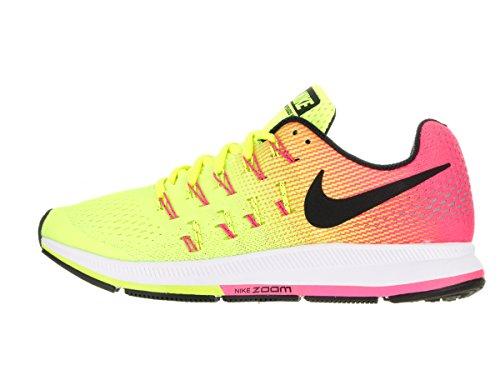 Nike W Air Zoom Pegasus 33 Oc, Scarpe da Corsa Bambina Nero (multicolore)
