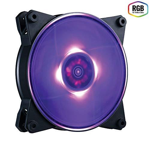 Cooler Master MasterFan Pro 140 Air Pressure RGB Gehäuselüfter 'RGB LED, 650 - 1,550 +/-10% UPM, 140mm' MFY-P4DN-15NPC-R1