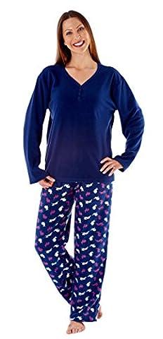 i-smalls Ltd - Ensemble de pyjama - Pyjama - Manches Longues - Femme - Bleu - Small