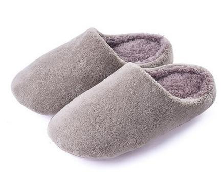 Autunno e inverno, fibra corta, coral velluto pantofole uomini e donne a casa anti - scivolo scarpe casa coperta di cotone pantofole , men deep brown men gray
