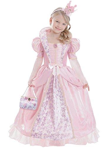 Mittelalterliche Prinzessin Kind Kostüm - amscan-ca14510V1-m-Corolle Königin mittelalterlichen Rosa-Kostüm für