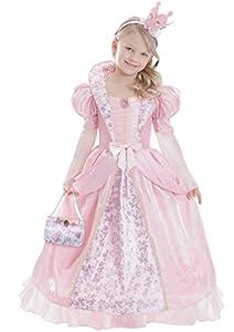 Amscan-ca14510 V1 L-Corolle Rosa-Disfraz de reina medieval para niña a 10 años