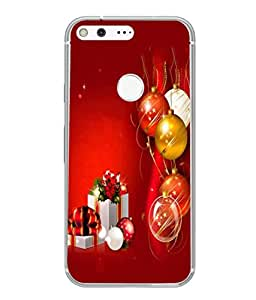 Fuson Designer Back Case Cover for Google Pixel XL (Santa Claus Christmas Tree December Holiday )