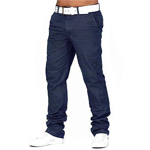 Herren Chino Hose Jeans Stoff-Hose H688 Dunkelblau