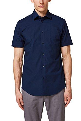 ESPRIT Collection Herren Businesshemd 038EO2F001, Blau (Navy 400), Large (Herstellergröße: 41-42)