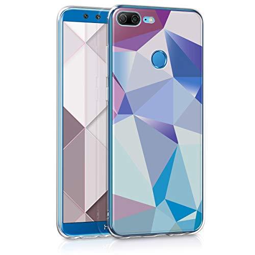 kwmobile Huawei Honor 9 Lite Hülle - Handyhülle für Huawei Honor 9 Lite - Handy Case in Hellblau Rosa Blau