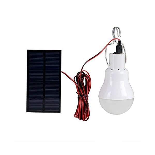 Solar Powered Led Light Bulb Portable Led Solar Lamp Spotlight with 0.8W Solar Panel for Outdoor Hiking Camping Tent Fishing Lighting 1