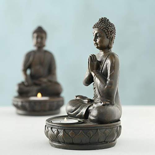Buddha Teelichthalter im 2er Set je 19 cm - 4