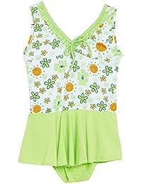 63c1e1691f9bf CAMEY Infant Baby Girls Printed One-Piece Swimsuit Ruffle Skirt Swimwear  Bathing Suit Cloth (