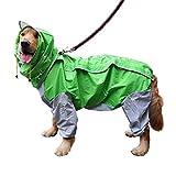 SHIZHESHOP Impermeabile Cani Impermeabili Cani Grembiuli Antipioggia con Cappelli di Ventilazione Cani da Passeggio Tuta Resistente all'Acqua per Animali Domestici (Color : Blue, Size : 30)