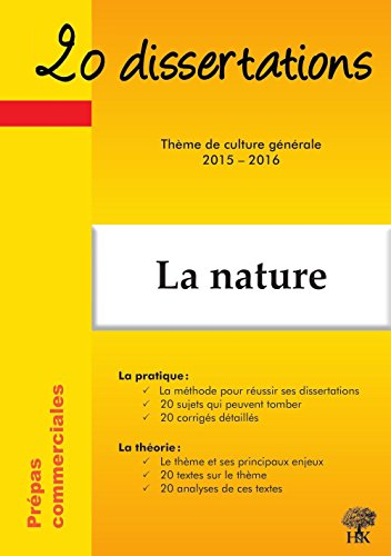 20 dissertations sur la nature