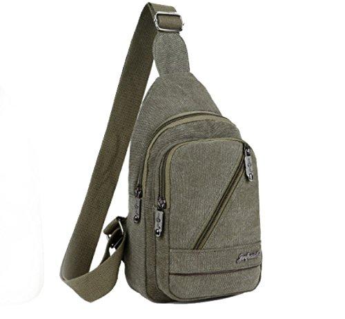 BULAGE Taschen Männer Brusttaschen Lässig Leinwand Schulter Retro Reist Arbeit Einkaufen Multifunktionale Outdoor Sport Black