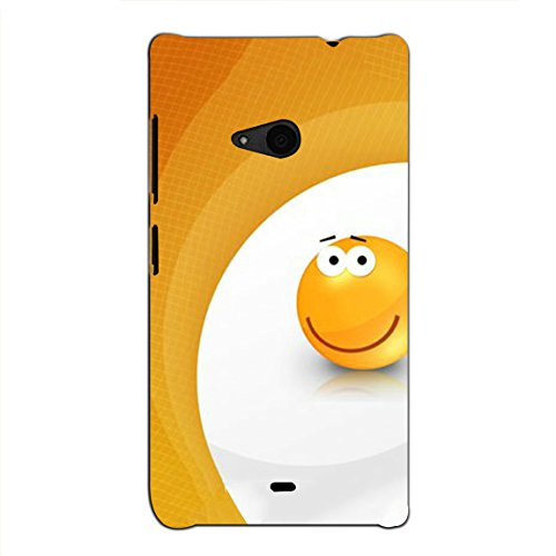 Bluethroat a Surprised Expression Smilie in Gradation of Yellow Back Case Cover for Microsoft Lumia 535 :: Microsoft Lumia 535 Dual SIM :: Nokia Lumia 535
