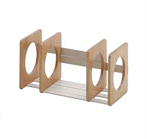 FJXLZ® Buchständer Bücherregal 648 (L) * 220 (W) * 220 (H) Mm Holz Farbe Kinder Desktop Massivholz Faltbar und einstellbar (Verstellbare Bücherregale Kinder)