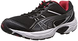 Puma Mens Vectone DP Black, Dark Shadow and H.R.Red Running Shoes - 6 UK/India (39 EU)