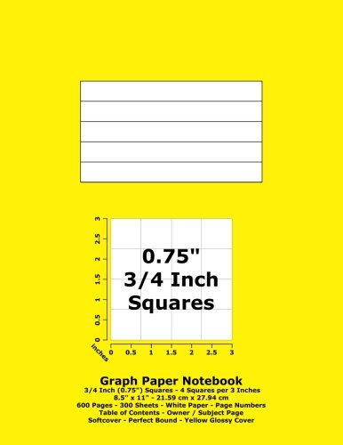 graph-paper-notebook-075-inch-3-4-squares-85-x-11-2159-cm-x-2794-cm-600-pages-300-sheets-white-paper