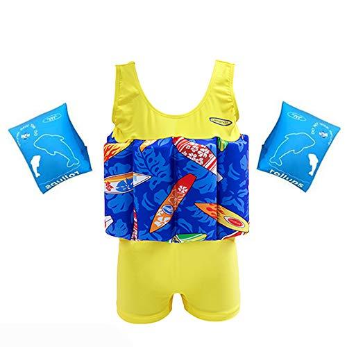 Children's Junge Schnell trocknend Schwimmender Badeanzug Arm Kreis, Kind einstellbar Schwimmender Badeanzug der Lernhilfe,Geeignet für Kinder oder Baby-Anfänger -