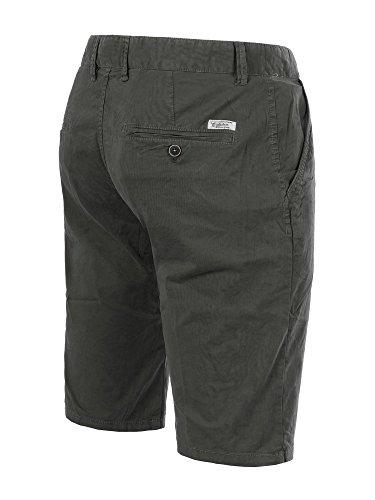 M430 FOREX Herren Bermuda Stoffhose kurze Hose Cargo Shorts Clubwear Bermudas Steingrau