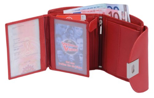 Portafoglio da donna composto AVANCO, Vera Pelle, 12,5x10cm Rosso