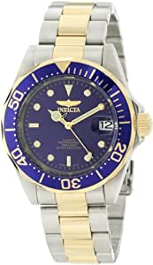 INVICTA Pro Diver Men's Automatic Watch with Blue Dial Analogue Display and Multicolour Stainless Steel Bracelet 8928