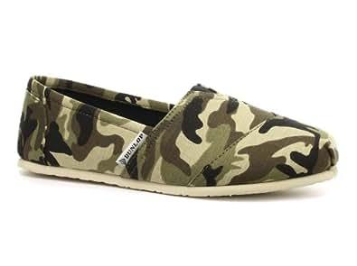 Dunlop Camouflage Homme Espadrilles, Khaki, Pointure 44