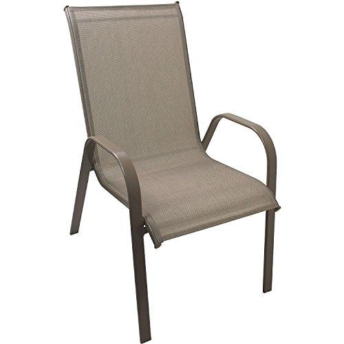 7tlg. Sitzgarnitur Gartengarnitur Set Aluminium Polywood / Non Wood Gartentisch 150x90cm + 6x Stapelstuhl mit Textilenbespannung stapelbar Bistrostuhl Gartenstuhl Balkonstuhl