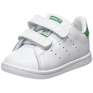 adidas Stan Smith CF i, Scarpe da Fitness Unisex-Bimbi, Bianco (Ftwbla/Verde 000), 26.5 EU