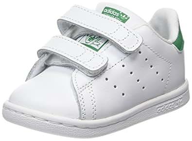 adidas Stan Smith CF I, Scarpe da Fitness Unisex-Bambini, Bianco (Ftwbla/Verde 000), 23 EU