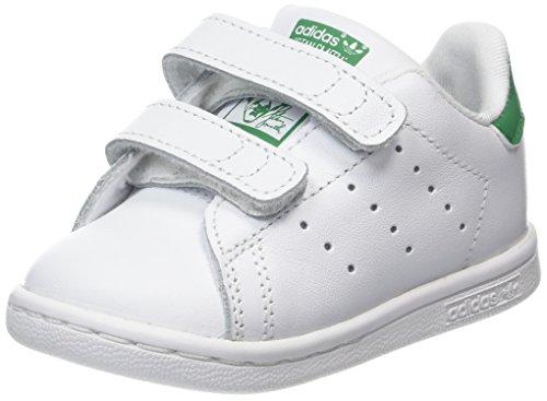 adidas Unisex Baby Stan Smith Gymnastikschuhe, Elfenbein (Ftwwht/Ftwwht/Green Bz0520), 20 EU - Adidas Kids Stan Smith