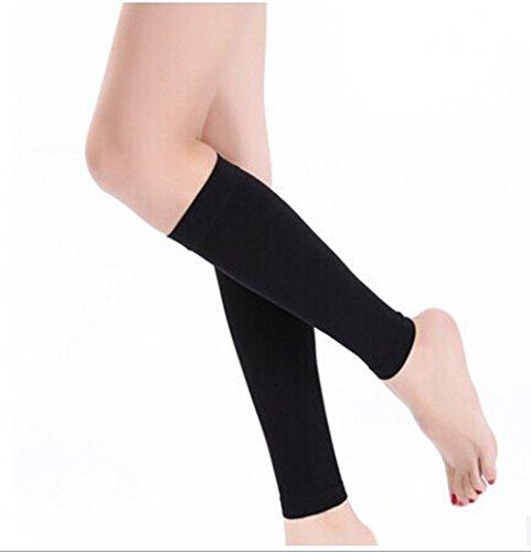hugestore femmes manchon de compression Mollet et slim Attelles Support  jambe cuisse Chaussettes de compression amincissant 181842af9fd