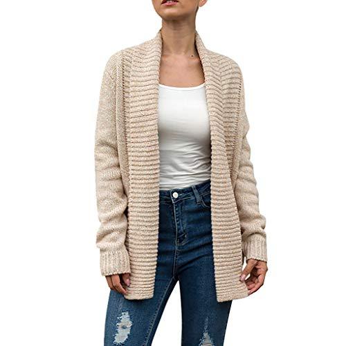 Jugendhj Frauen feste lange Hülsen-gestrickte Strickjacke Taschen Mantel-Bluse vertuschen Wolljacke - Kapuzen-elasthan Vertuschen