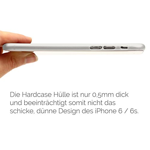 Apple iPhone 6 / 6s Handyhülle von original Urcover® in der ultradünnen 0,3 mm Hardcover Edition iPhone 6 / 6s Schutzhülle Case Cover Etui Grau - Transparent Weiss