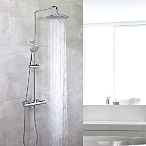 Grifería de ducha – Conjunto termostático gran ducha con columna fija BLAUTHERM – RAMON SOLER