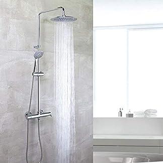 41fu1w5Vc L. SS324  - Grifería de ducha - Conjunto termostático gran ducha con columna fija BLAUTHERM - RAMON SOLER