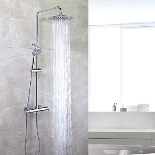 Grifería de ducha - Conjunto termostático gran ducha con columna fija BLAUTHERM - RAMON SOLER