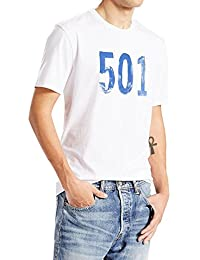 T-Shirt Levis – Graphic Setin Neck 501 Paint blanc
