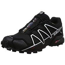 Salomon Herren Trail Running Schuhe, SPEEDCROSS 4 GTX, Farbe: schwarz (Black/Black/Silver Metallic-X) Größe: EU 43 1/3