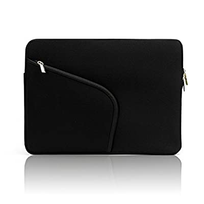 "Sinoguo Classic Pure Color Soft Neoprene Water Resistance Sleeve Bag Handmade Case With Flannel Lining for Apple 13"" Macbook Pro / Macbook Air / Macbook Pro with Retina Display and Most Popular 13-13.3 Inches Laptop / Notebook / Ultrabook / Netbook"