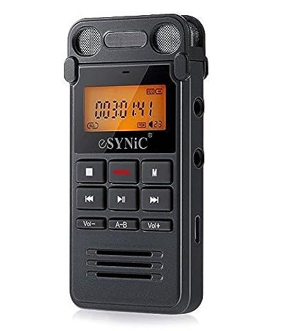 Enregistreur Audio Numerique - Dictaphone Vocal 8Go Numérique Audio LIN IN