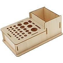 MagiDeal Caja de Madera Multifuncional Almacenaje de Cepillos de Pintura Herramientas de Cuero Organizador Hogar Cocina