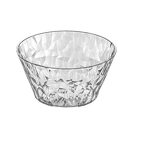 koziol Portionsschale Crystal 2.0, thermoplastischer Kunststoff, transparent klar, 15 x 15 x 7,7 cm Crystal Ice Cream